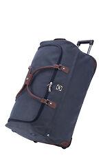 Hauptstadtkoffer Reisetasche mit Rollen Trolleytasche Großes Gepäck Tasche Blau