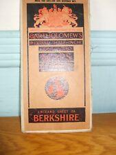 BARTHOLOMEW'S REVISED HALF-INCH CONTOURED CLOTH MAP BERKSHIRE SHEET 29 FOLD OUT