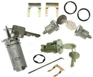 Ignition Switch & Door & Trunk Lock Key Cylinder Set With Keys FOR Pontiac