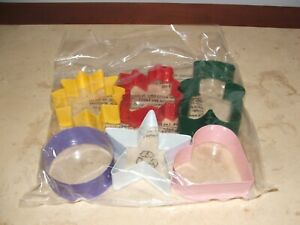 NEW IN PKG Metal Cookie Cutters SEASONAL &  Holiday Shapes Set of 6