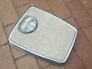 Vintage Cresta Bathroom Scales Working Mechanical Imperial Stones/Pounds.