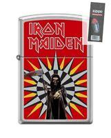 Zippo 5171 Iron Maiden Street Chrome Grim Reaper Lighter + FLINT PACK