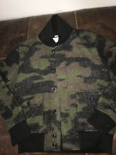 Ralph Lauren Denim and Supply Wool Blend Knit Army Camo Bomber Jacket  XL