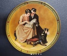 """""""A Couple's commitment"""" by: Norman Rockwell. Collection Plates Edwin M Knowles"""