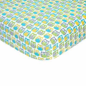 "Carter's Owl Print Cotton Sateen Crib Sheet - 52"" x 28"""