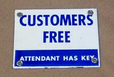 1950's Service Station - Gas Station Porcelain Rest Room Sign  -  N.O.S.