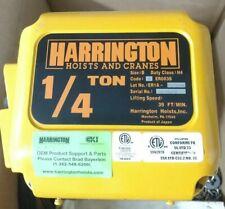 Harrington Ner003s Electric Chain Hoist 14 Ton 12 Lift 32 Fpm 208 230 V