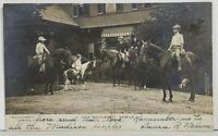 Rppc Roosevelt Family Children Horses Ponies 1904 Real Photo Postcard P5