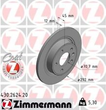 2x ZIMMERMANN Bremsscheibe Bremsscheiben Satz Bremsen COAT Z Hinten 430.2624.20