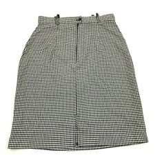 VINTAGE Lloyd Straight Pencil Skirt Size 11 Black White Checks Pin Up 28 Waist