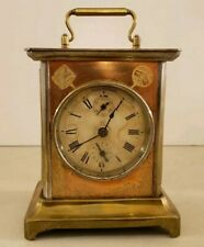 Antique Working 19th C. SETH THOMAS Brass Victorian Carriage Clock Alarm Clock