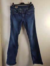 Pepe Jeans, regular waist, low fit, flare, bootleg, blue, waist 30 Leg 32