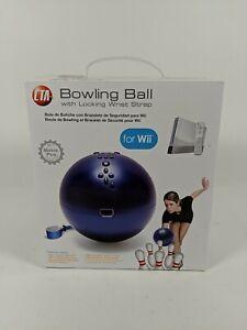 CTA Bowling Ball For Nintendo Wii With Locking Wrist Strap Original Box & Manual