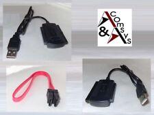 "Adapter USB auf SATA S-ATA IDE 2.5"" 3.5"" Festplatte DVD + SATA-Datenkabel #USK"