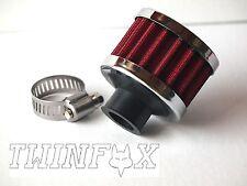 Universalfilter Kurbelgehäuseentlüftung Entlüftungsfilter rund rot 12mm Anschlus