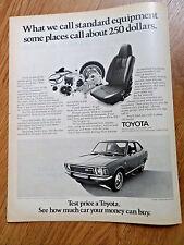 1972 Toyota Corona 1600 Fastback Ad