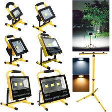 10W -150W LED AKKU Arbeitsleuchte Strahler Außenlampe Fluter Baustrahler Stativ