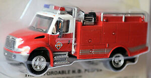 GMC Top Kick 2003 Fire Department Engine Pump And Trousers 1:87 Boley 3200702W