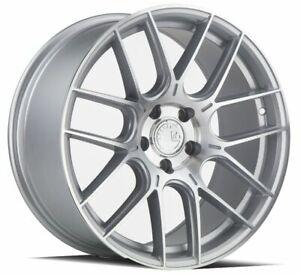 18x9.5 Aodhan AH-X AH10 5x120 35 Silver Machined Wheels Rims Set(4) 72.6 Alloy