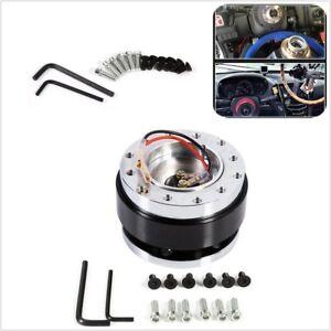 Aluminium Car Steering Wheel Quick Release HUB Adapter Snap Off Boss Kit Black