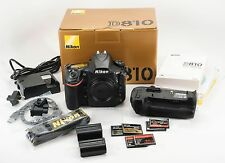 Nikon D810 36.3 MP DSLR digital camera with MB-D12 battery pack- Black