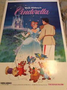 """Disney vintage """"Cinderella"""" Poster 1985"""