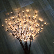 100LEDs Willow Branch Lamp Floral Lights Home Christmas Garden Decor Battery