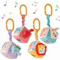 Plush Hanging Baby Toys for 0 3 6 9 to 12 Months,Newborn Sensory Learning