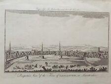 1779 buone dimensioni 18th SECOLO stampa di vista di Leicester, Leicestershire