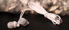 Pack of 10 WHITE/GRAY 3.5mm Headphones / Earbuds / GREAT for Kids / Schools