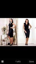 GOK WAN BLACK GORGEOUS SLINKY WRAP DRESS Size 10 BNWT
