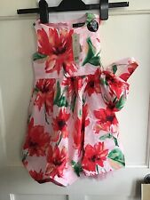 GEORGE LITTLE GIRLS FLORAL RED POP PARTY PRETTY NET DRESS SIZE 2-3 Years STYLISH