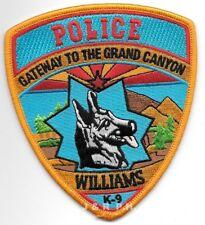 "*NEW*  Williams  K-9 Unit, Arizona (4"" x 4.5"" size) shoulder police patch (fire)"
