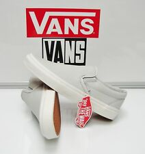 Vans Classic Slip On Embossed Leather Glacier VN0A38F7MU0 Women's Size: 8.5