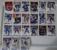 1991-92 Upper Deck UD Toronto Maple Leafs Team Set of 21 Hockey Cards No #598