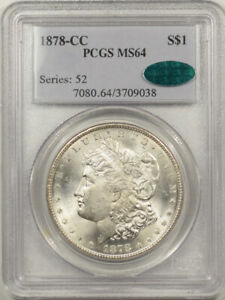 1878-CC MORGAN DOLLAR - PCGS MS-64 VERY CHOICE, PQ & CAC APPROVED!