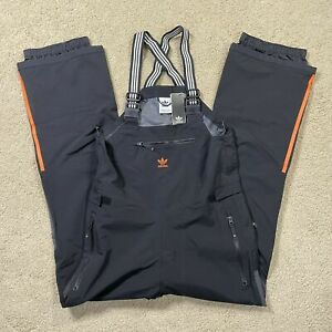 NWTs Adidas 3L Bib Ski Pant Black/Black/Orange FJ7485 Men's Size 2XL