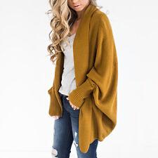 Women Oversized Batwing Sleeve Knitted Cardigan Loose Sweater Outwear Coat Tops