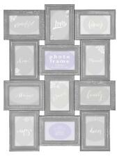 Innova Editions Vintage Grey Multi Aperture Photo Picture Frame - Holds 12 X 6''