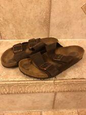 Birkenstock Brown Leather Arizona Sandals Size 40 Used