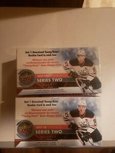 2017/18 Upper Deck Series 2 Hockey Sealed 10 Pack Blaster Boxes. Lot of (2)