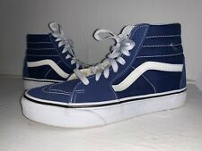 $65 VANS SK8-Hi Estate Blue Suede High-Top Sneakers RARE COLOR Mint! 5.5 M 7 W