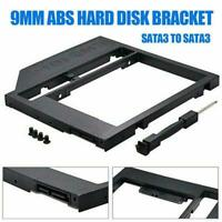 9.0mm Universal SATA 2nd HDD SSD Hard Drive Caddy For CD/DVD-ROM NEW Optica A7D5