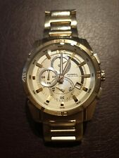 Fossil Herren Armbanduhr Chronograph Gold Fossil BLUE CH-2521