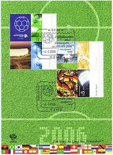 BRD 2006: Fußball-WM-Block Nr. 67 mit zwei Bonner Ersttags-Sonderstempeln! 1708