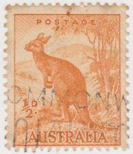 (W246) 1937 AU ½d orange kangaroo (F)