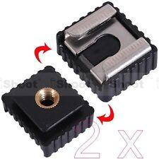 """2x 1/4"""" Vis Trou Froid Pied pour Hot Shoe Mount Adapter pour Canon Speedlite Flash"""