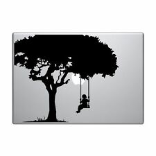 """Macbook Aufkleber Sticker Decal skin Air Pro 11"""" 13"""" 15"""" 17"""" Baum Mädchen v211"""