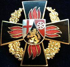 GERMANY / 1960s Feuerwehr Firefighting Medal Rheinland Pfalz Gold - 1st Class !!
