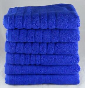 Cheap Small Face Towels Royal Blue 30cm x 30cm Egyptian Cotton 525gsm Pack of 4